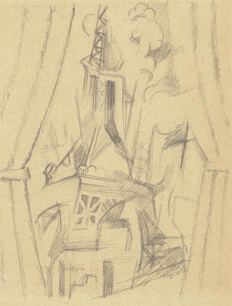 Robert Delaunay-La Tour Aux Rideaux-1916