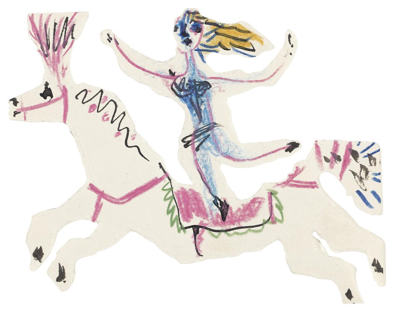 Pablo Picasso-Sans Titre (Lecuyere)-1952