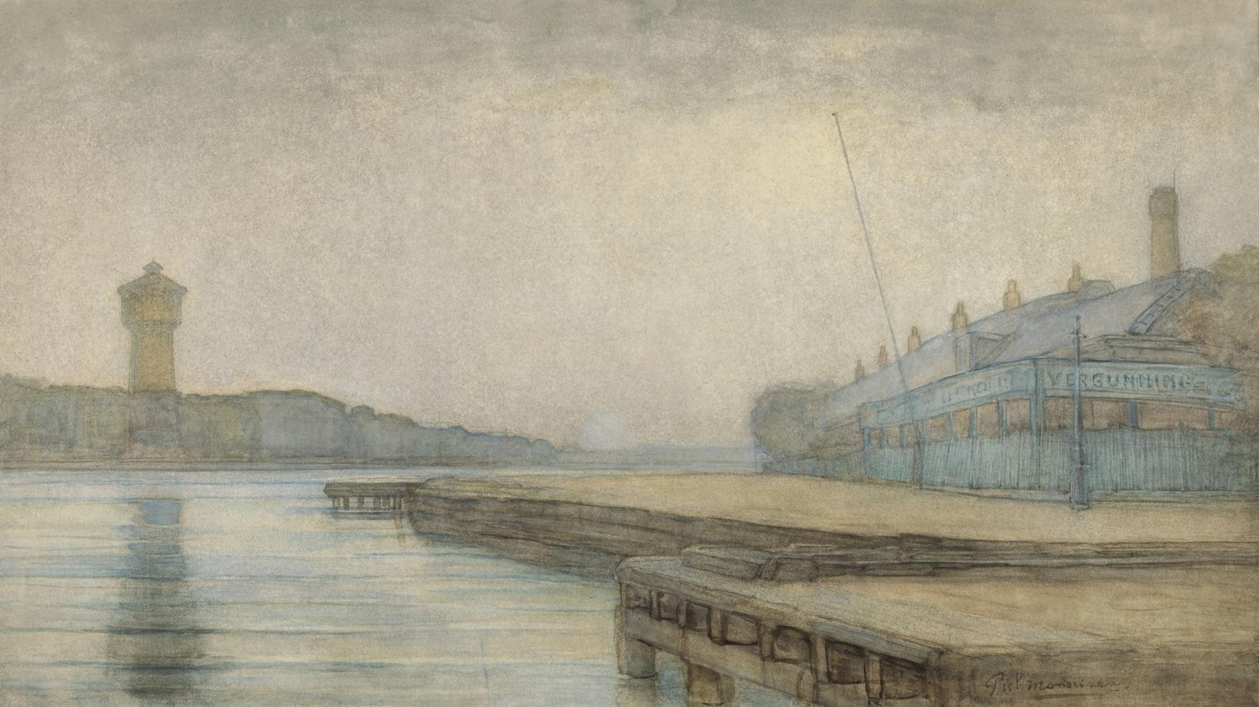 Piet Mondrian-Amstel, Cafe T Vissertje II-1909