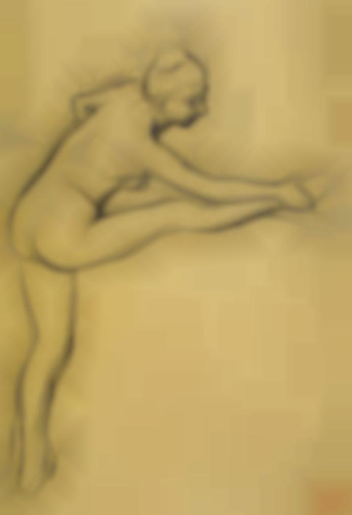 Edgar Degas-Etude De Nu (Danseuse A La Barre)-