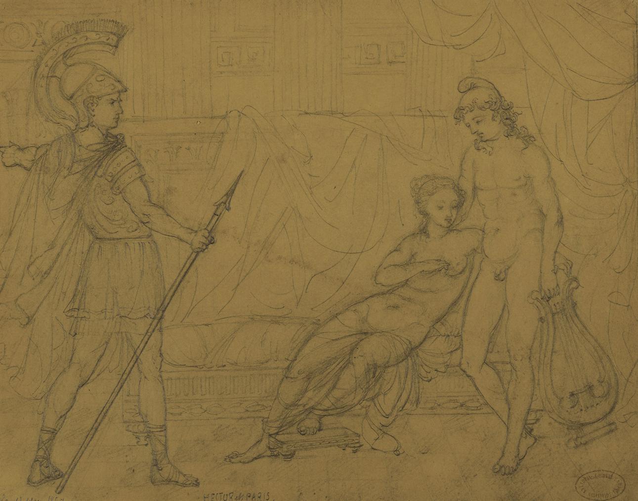 Pierre-Auguste Renoir-Hector Et Paris-1860