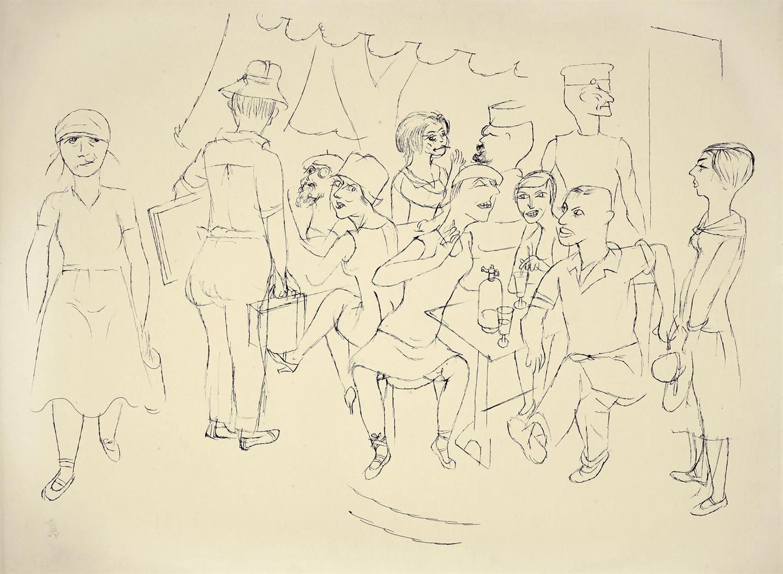 George Grosz-Bienenschwarm-1927