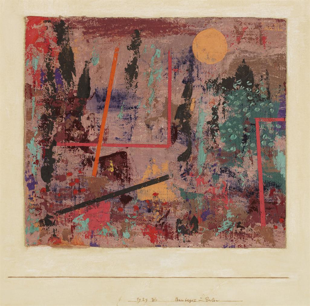 Paul Klee-Baubegin Im Garten-1929