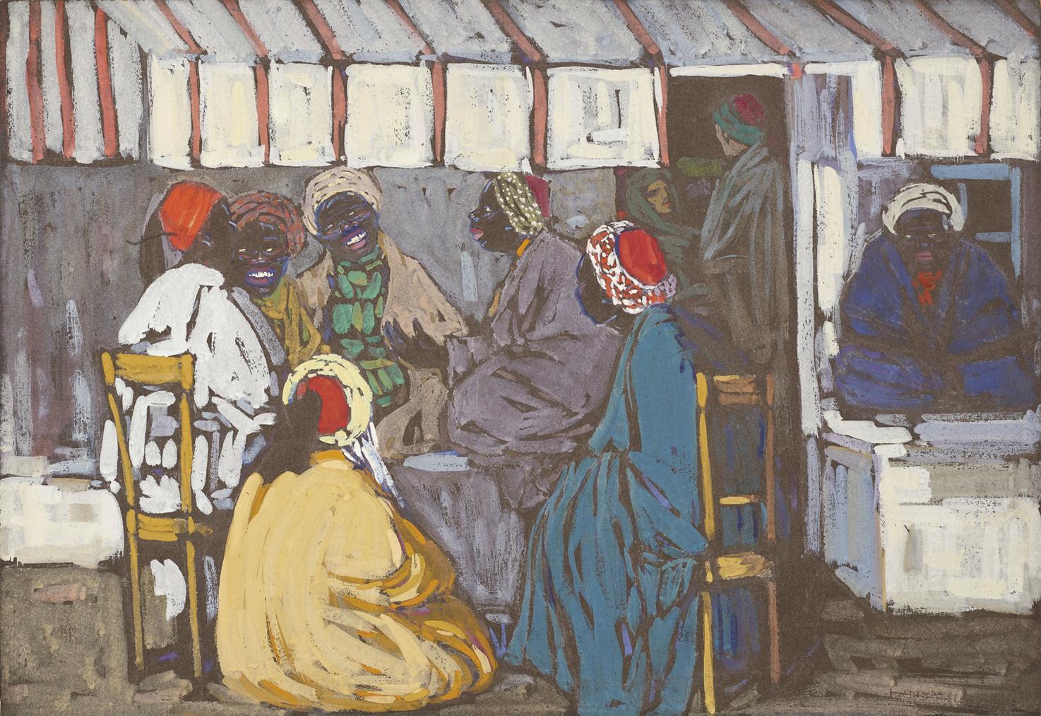 Wassily Kandinsky-Mohrencafe-1905