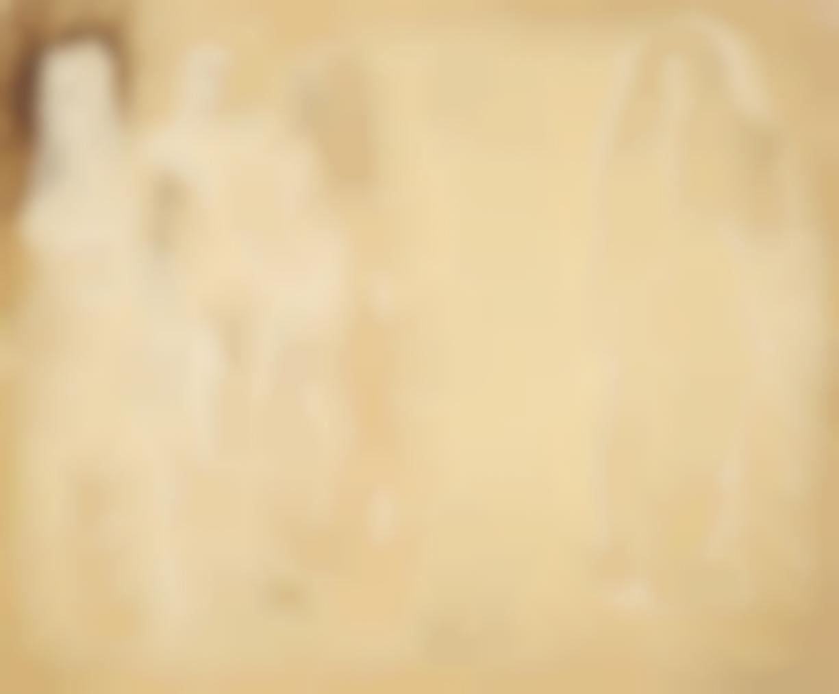 Barbara Hepworth-Group Of Figures And Head (Burnt Umber)-1951