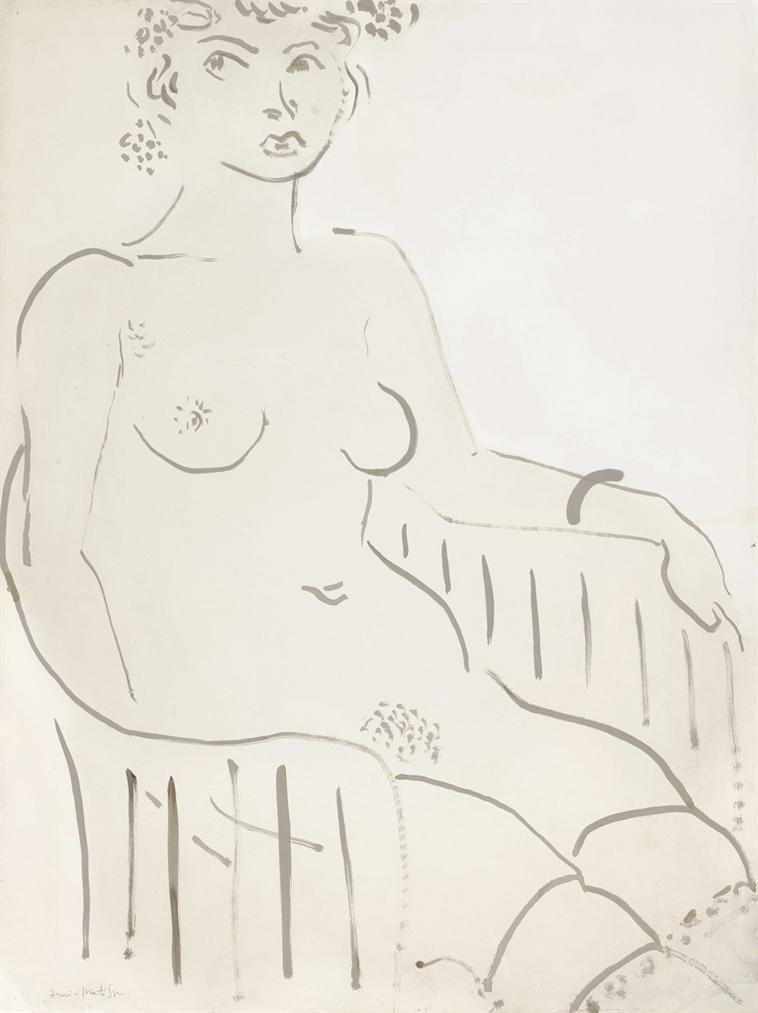 Henri Matisse-Femme Nue Assise-1914