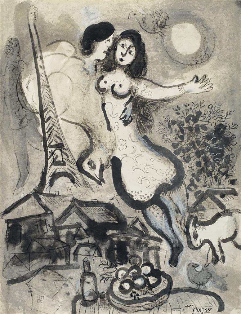 Marc Chagall-Autour De La Nuit-1964