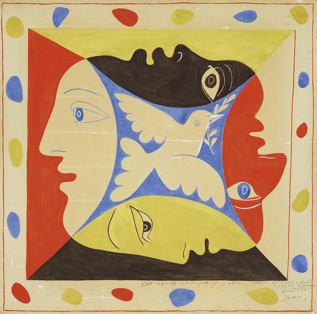 Pablo Picasso-Les Quatre Visages-1951
