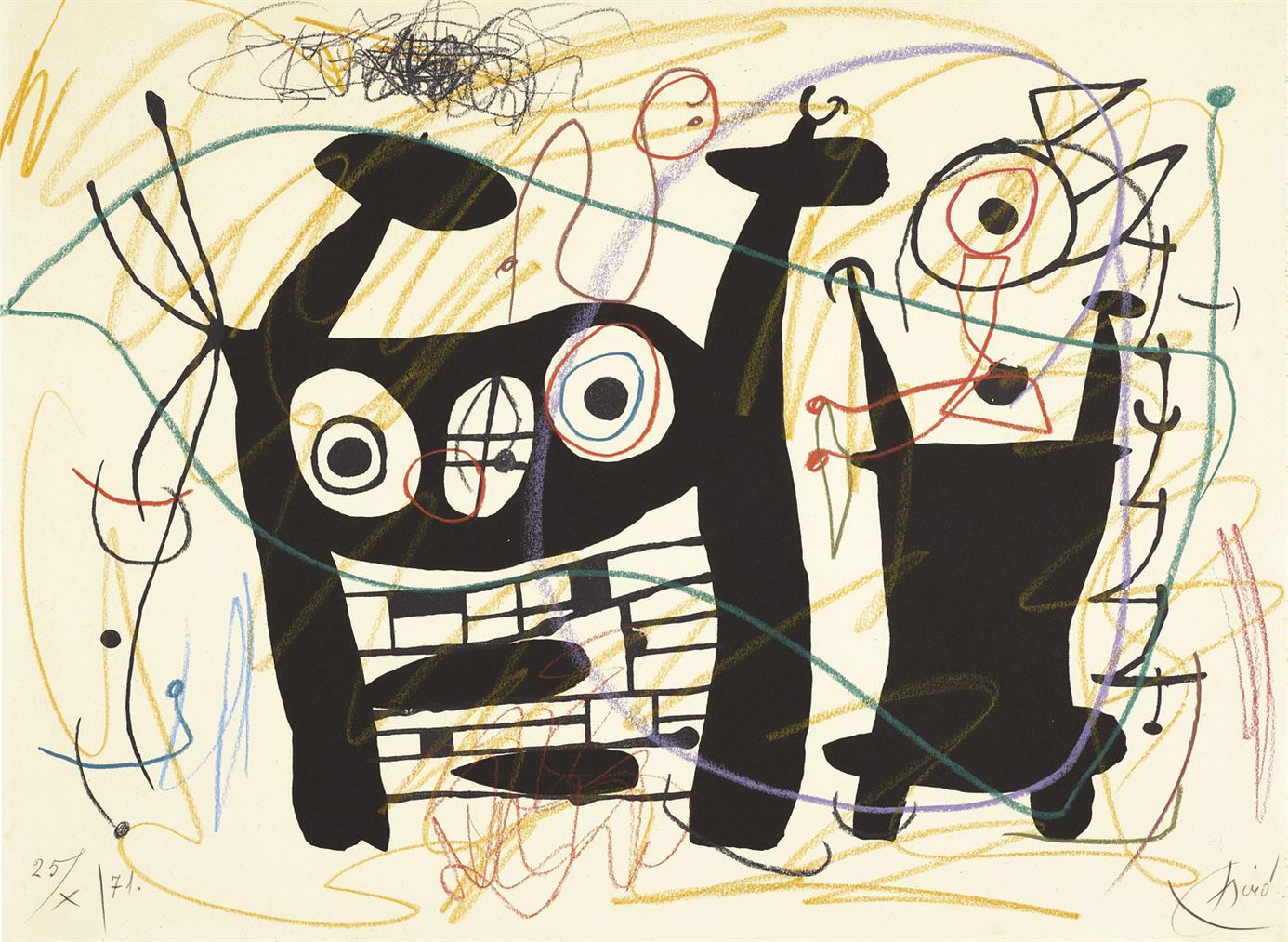 Joan Miro-Sans Titre-1971