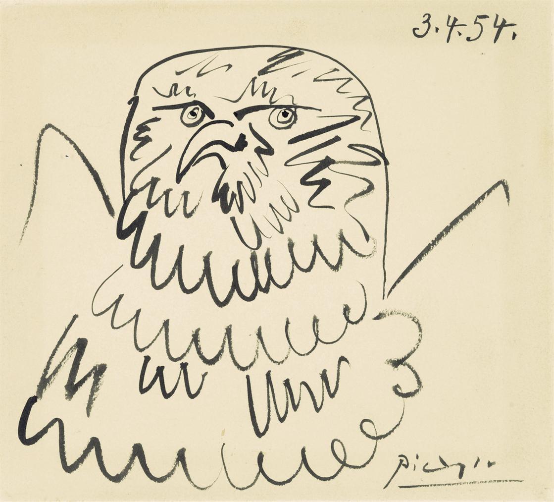 Pablo Picasso-Chouette-1954