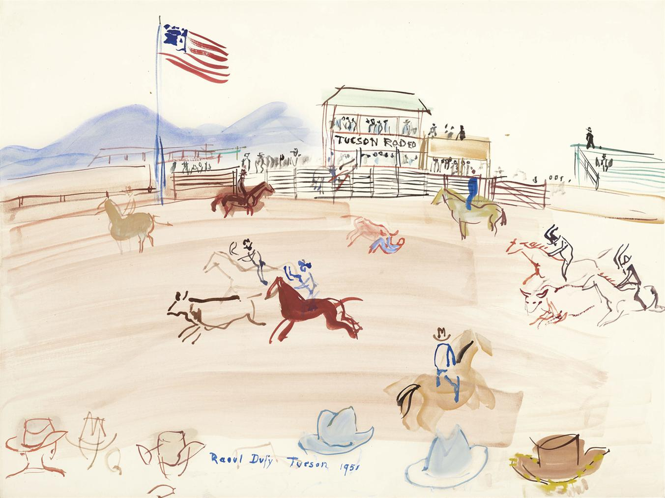 Raoul Dufy-Tucson Rodeo-1951