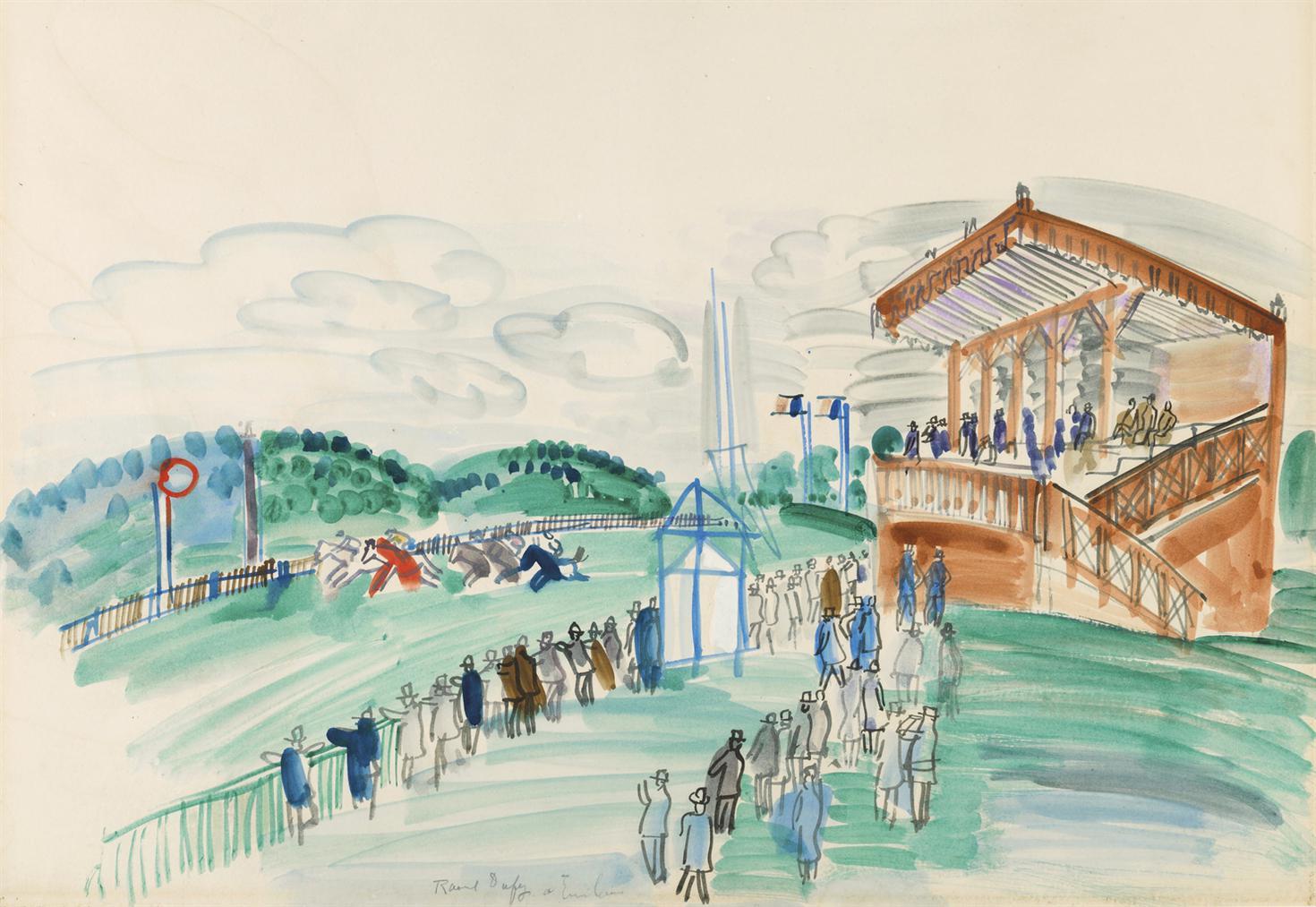 Raoul Dufy-Le Depart A Saint-Cloud-1931