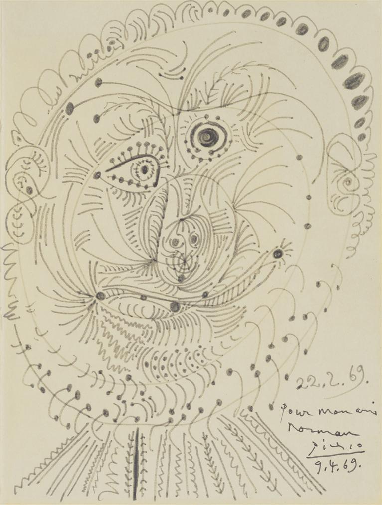 Pablo Picasso-Portrait De Norman Granz-1969