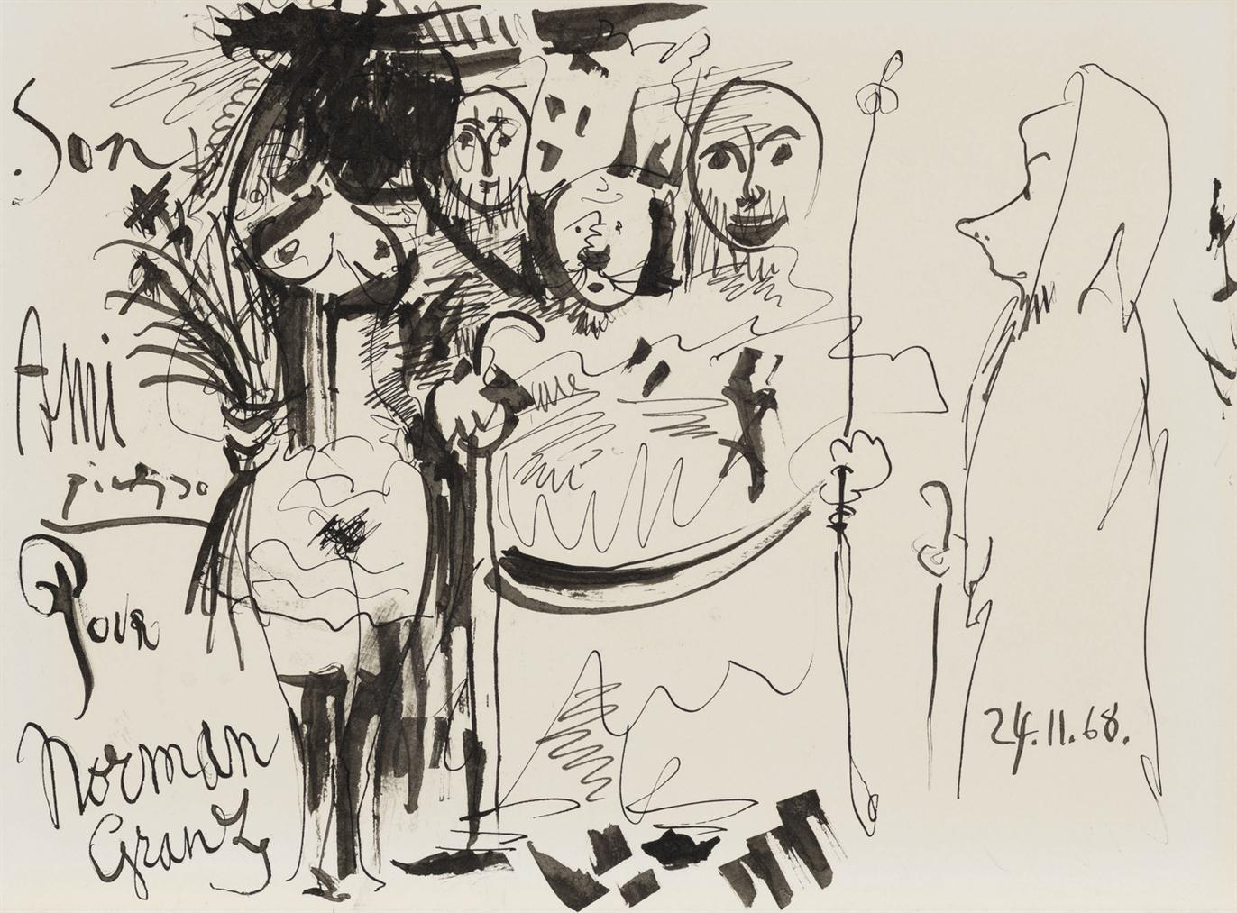 Pablo Picasso-Cinq Personnages-1968