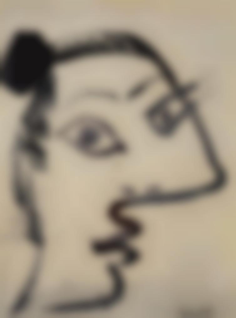 Pablo Picasso-Tete De Femme-1967