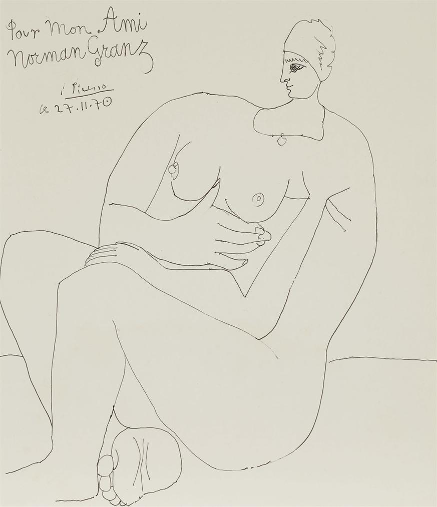 Pablo Picasso-Femme Nue Assise-1970
