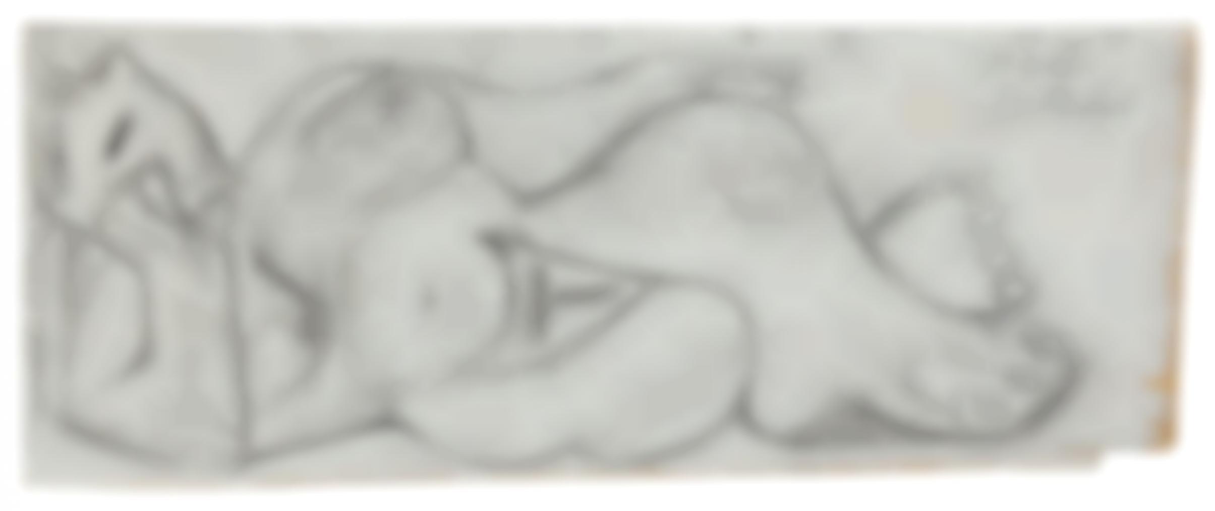 Pablo Picasso-Femme Nue Couchee-1965