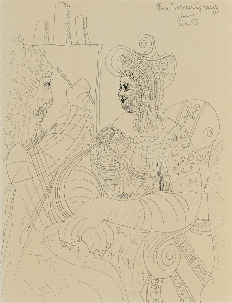 Pablo Picasso-Le Peintre Et Son Modele-1970