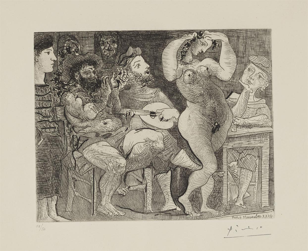Pablo Picasso-Au Cabaret-1934