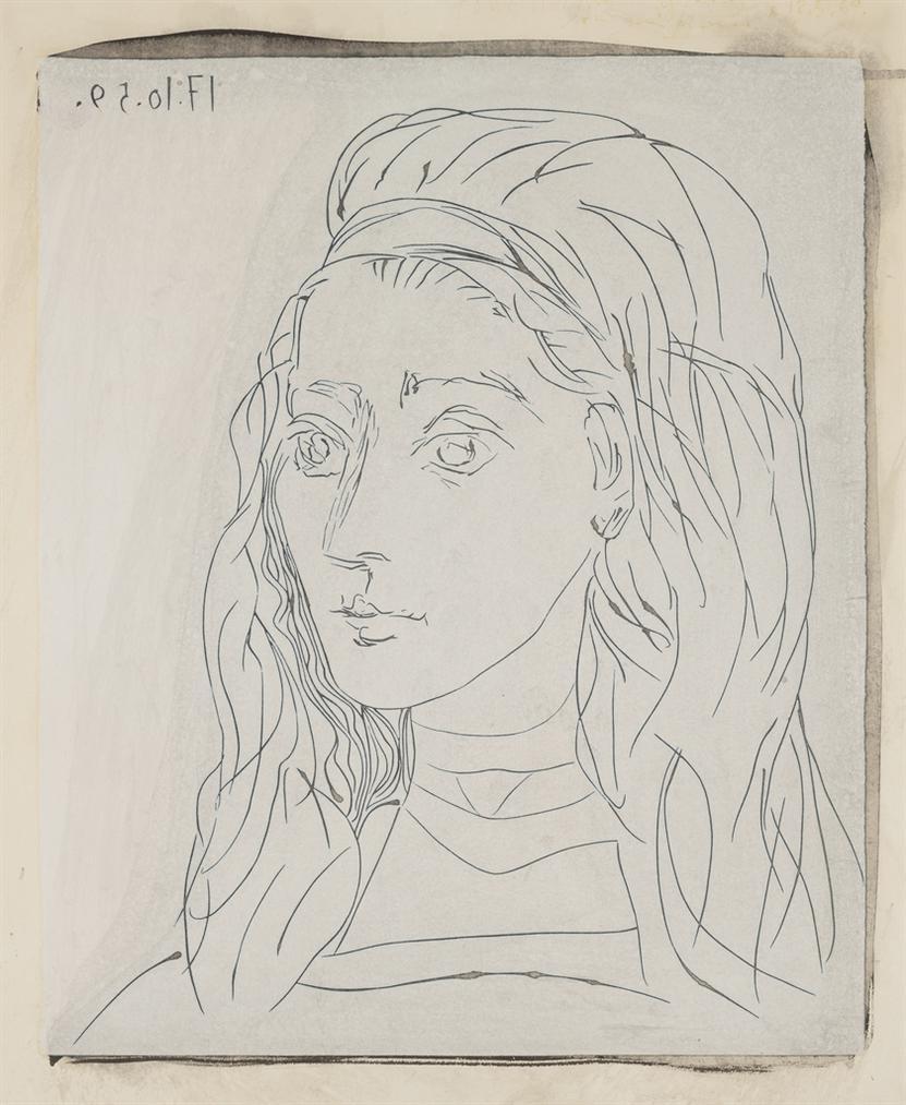 Pablo Picasso-Portrait De Jacqueline-1964