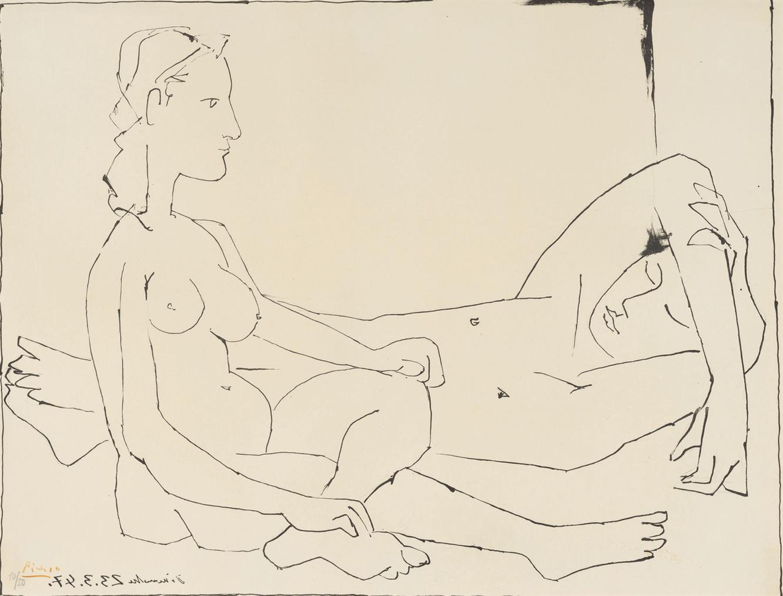 Pablo Picasso-Couple-1947