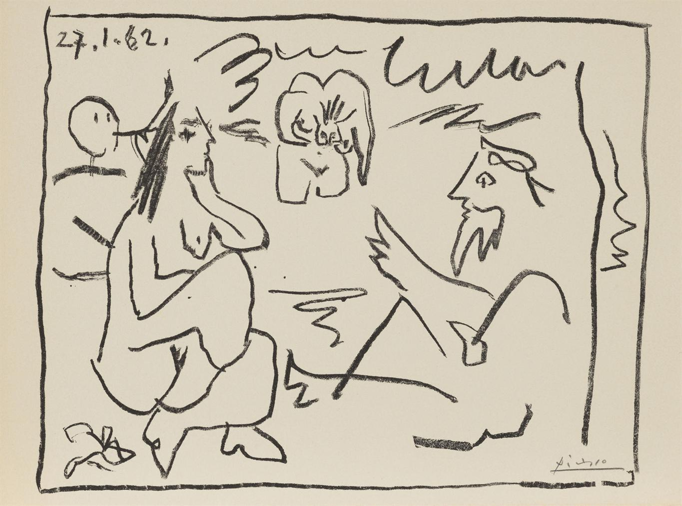 Pablo Picasso-Untitled, From Les Dejeuners-1962