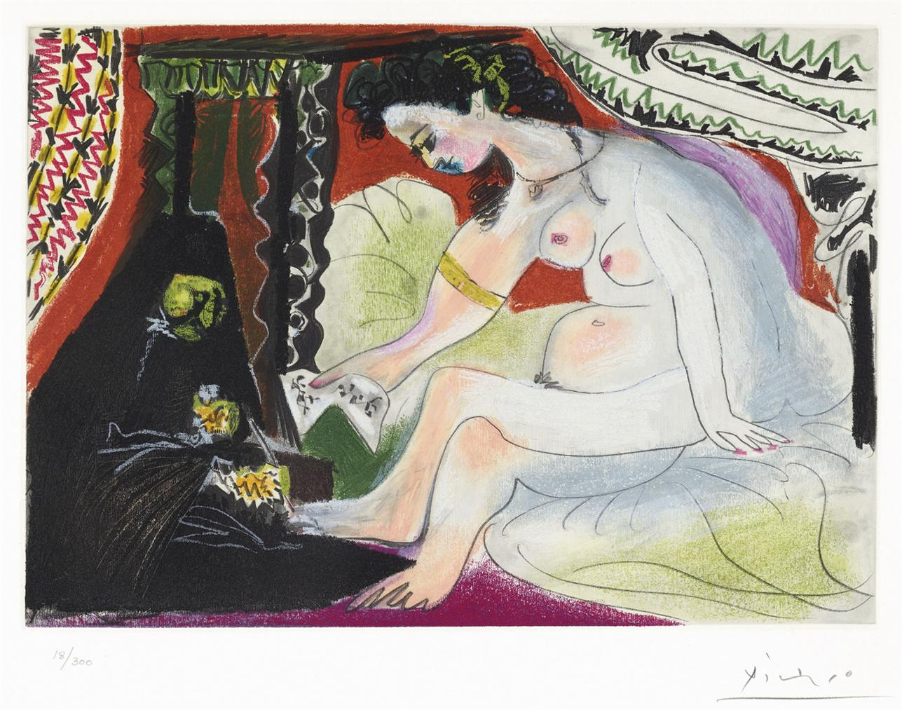 Pablo Picasso-After Pablo Picasso - Bethsabee-1960