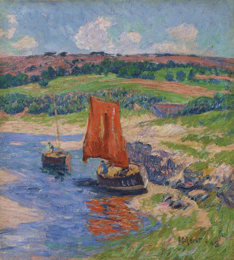 Henry Moret-La Voile Rouge-1909