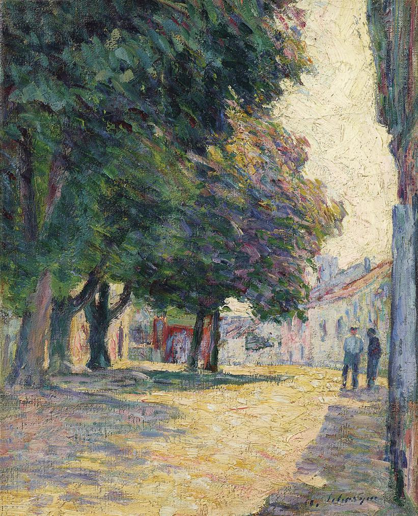 Henri Lebasque-Vence, La Place Ensoleillee-1907