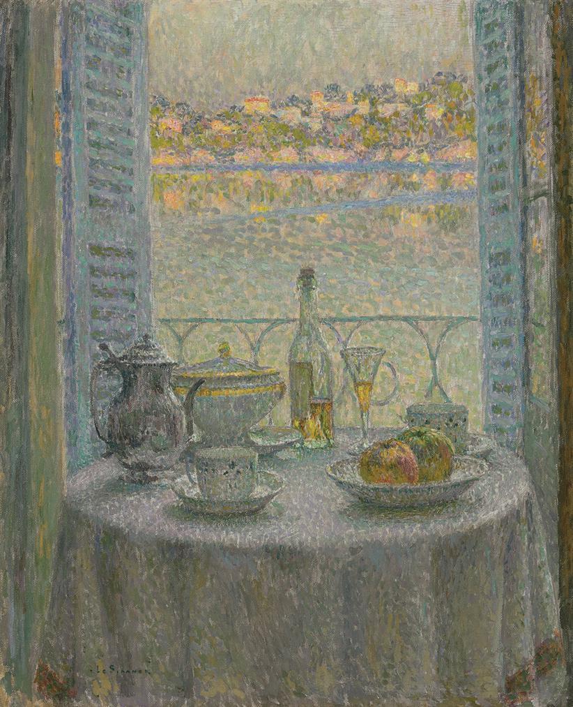 Henri Eugene Le Sidaner-La Table Ronde-1925
