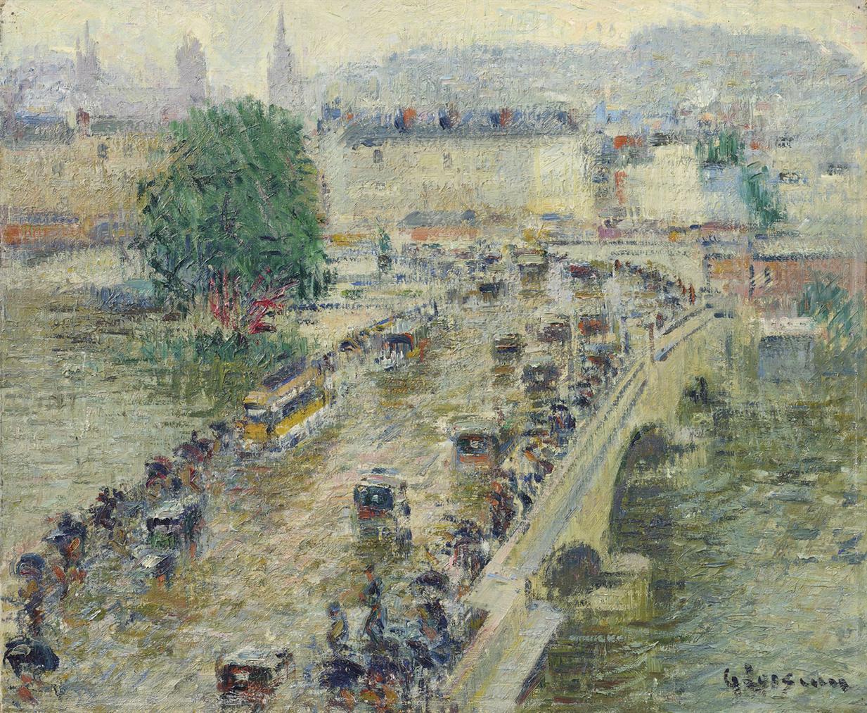 Gustave Loiseau-Le Pont Corneille A Rouen-1927