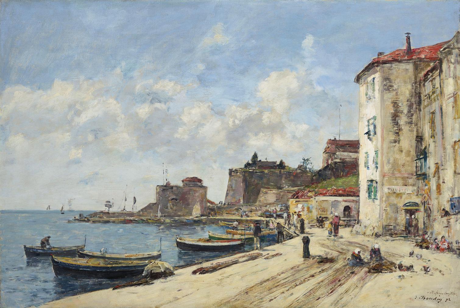 Eugene Louis Boudin-Villefranche, Le Port-1892