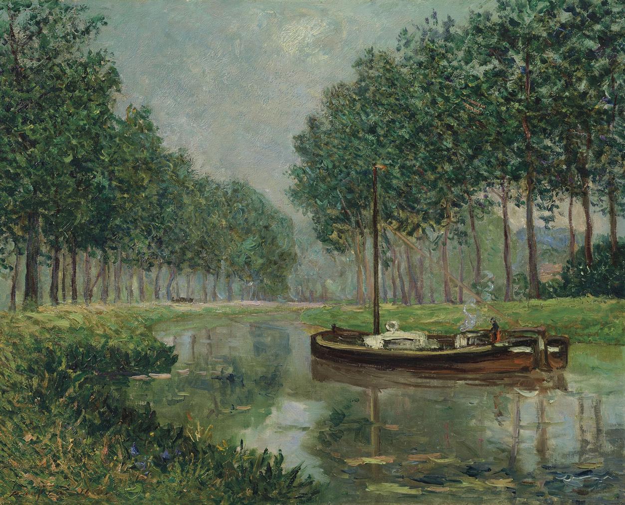 Maxime Maufra-Chaland Sur Le Canal-1910