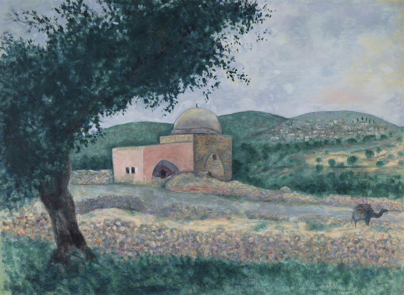 Marc Chagall-La Tombe De Rachel-1931