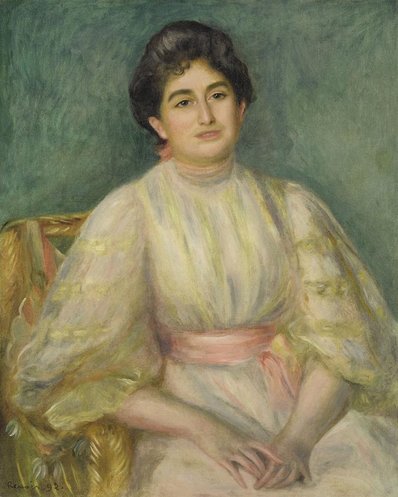 Pierre-Auguste Renoir-Portrait De Madame Paul Gallimard-1892