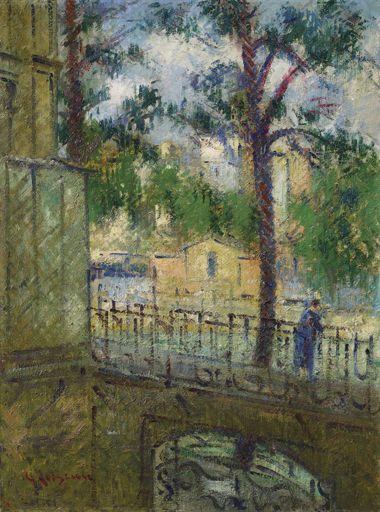 Gustave Loiseau-Vue Prise De Ma Fenetre, Quai Danjou-1926