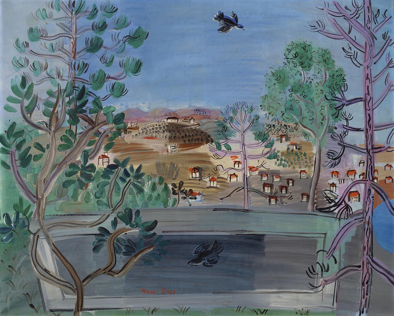 Raoul Dufy-Le Reservoir A Golfe-Juan, A Loiseau-1927