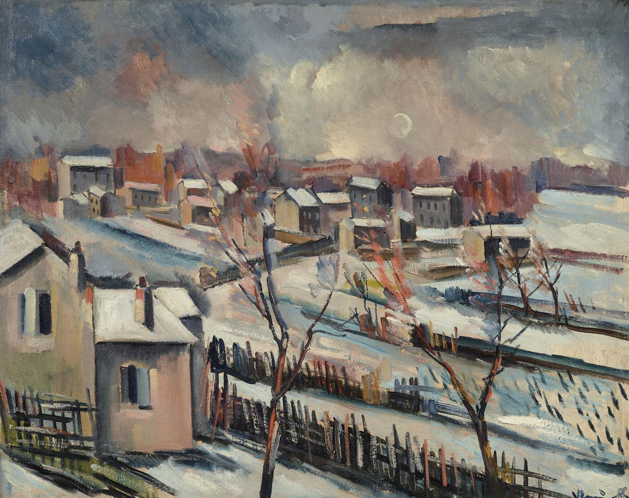 Maurice de Vlaminck-Paysage De Neige-1912