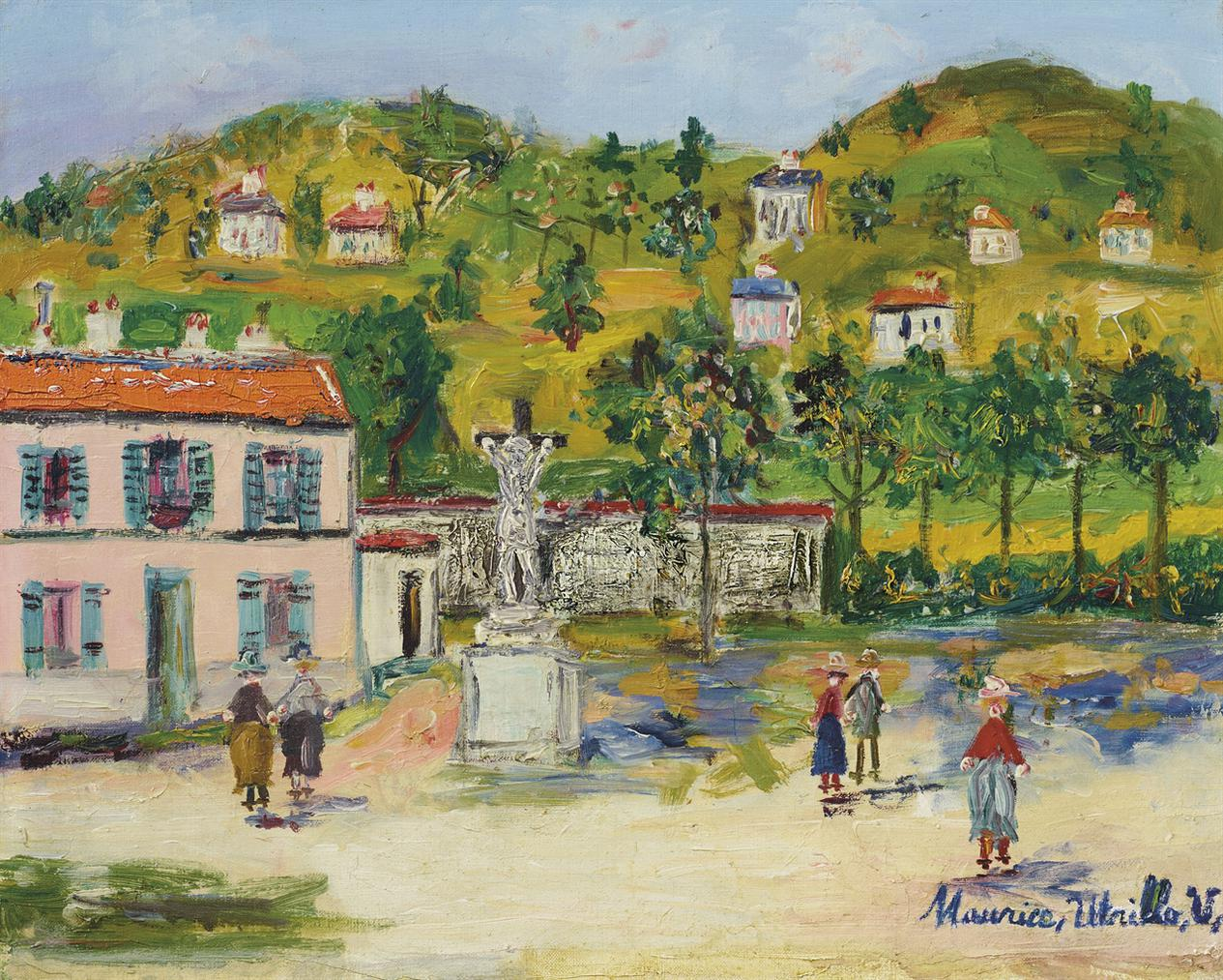 Maurice Utrillo-Place De Village-