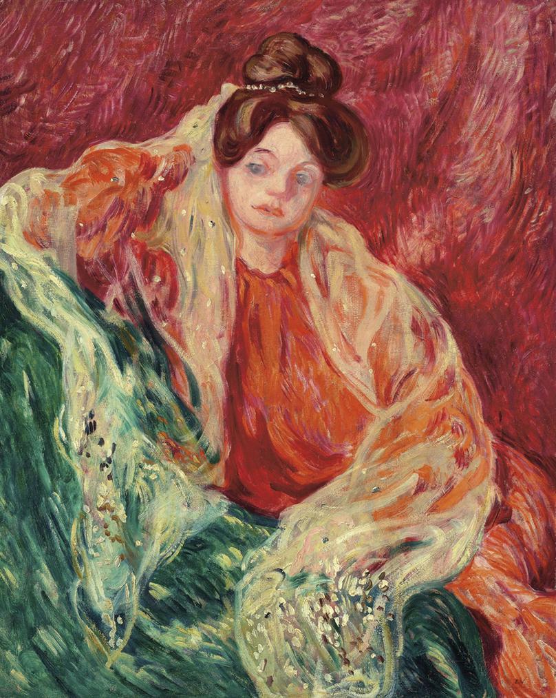 Louis Valtat-Portrait De Madame Valtat-1905