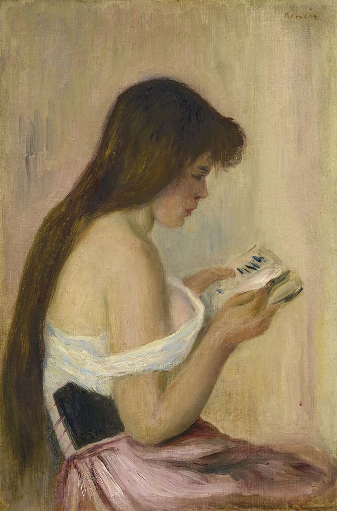 Pierre-Auguste Renoir-Jeune Fille Lisant-1896