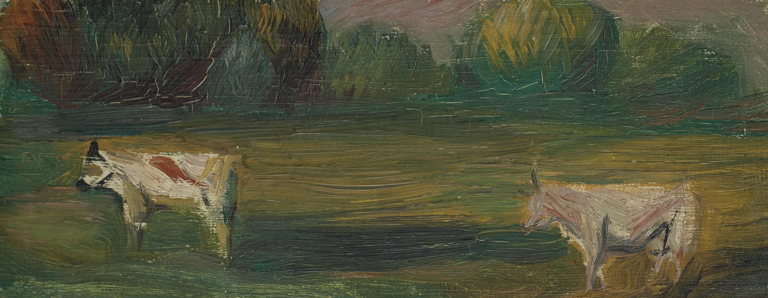 Pierre-Auguste Renoir-Deux Vaches Dans Un Champs-1895