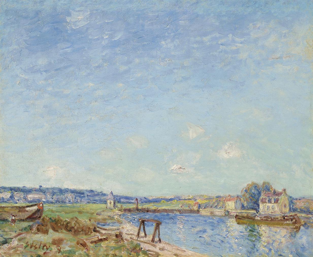 Alfred Sisley-Le Loing A Saint-Mammes-1884