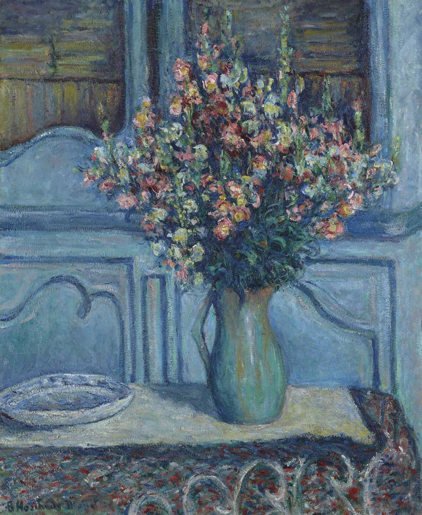 Blanche Hoschede-Monet - Les Mufliers, Interieur A Giverny-1922