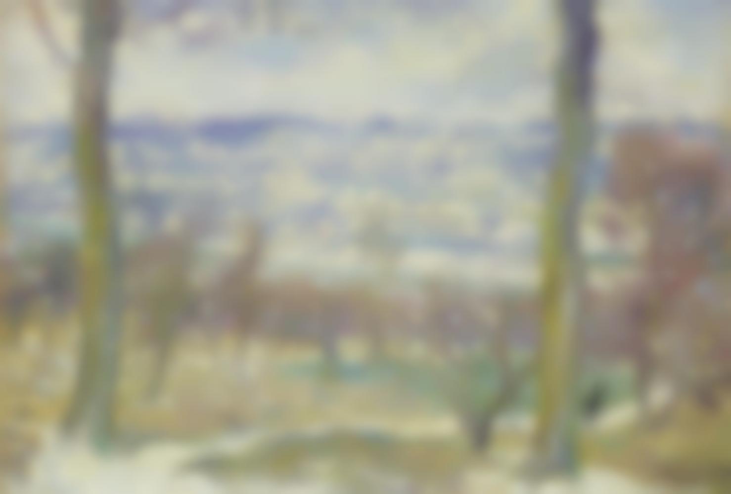 Henri Lebasque-Paysage De Neige Aux Environs De Paris-1909