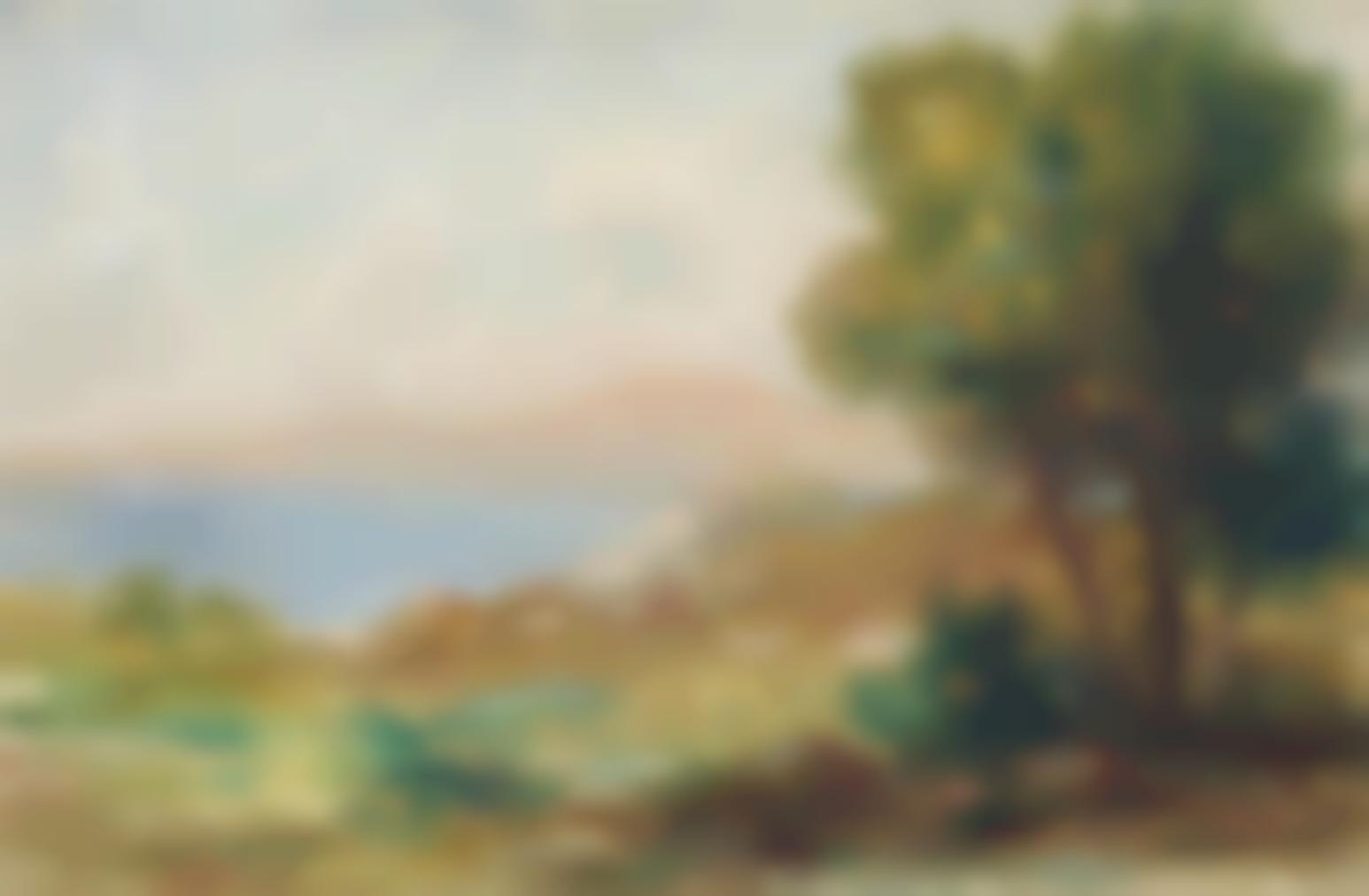 Pierre-Auguste Renoir-Paysage, La Plage De Pornic-1890