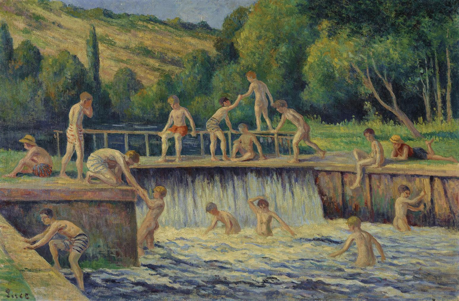 Maximilien Luce-La Baignade A Bessy-Sur-Cure-1908