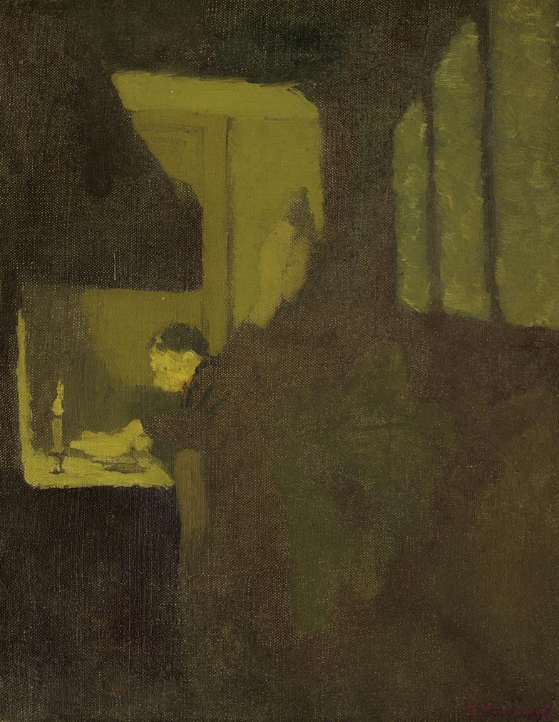Edouard Vuillard-La Cuisiniere A La Bougie-1892