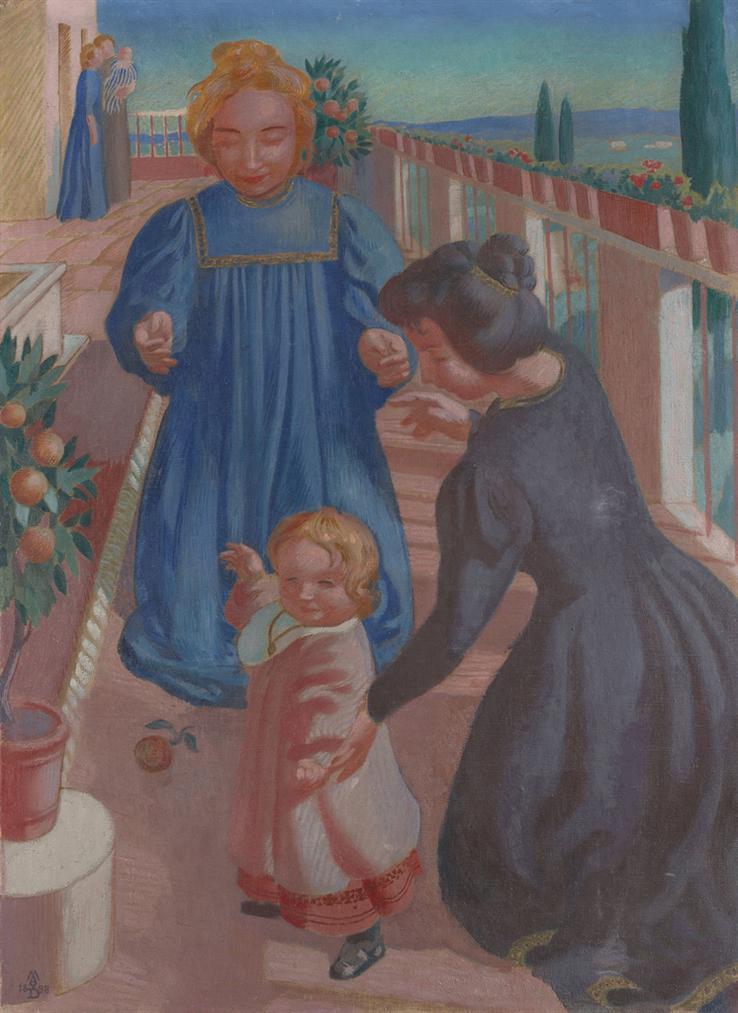 Maurice Denis-Les Premiers Pas Sur La Terrasse De Fiesole-1898