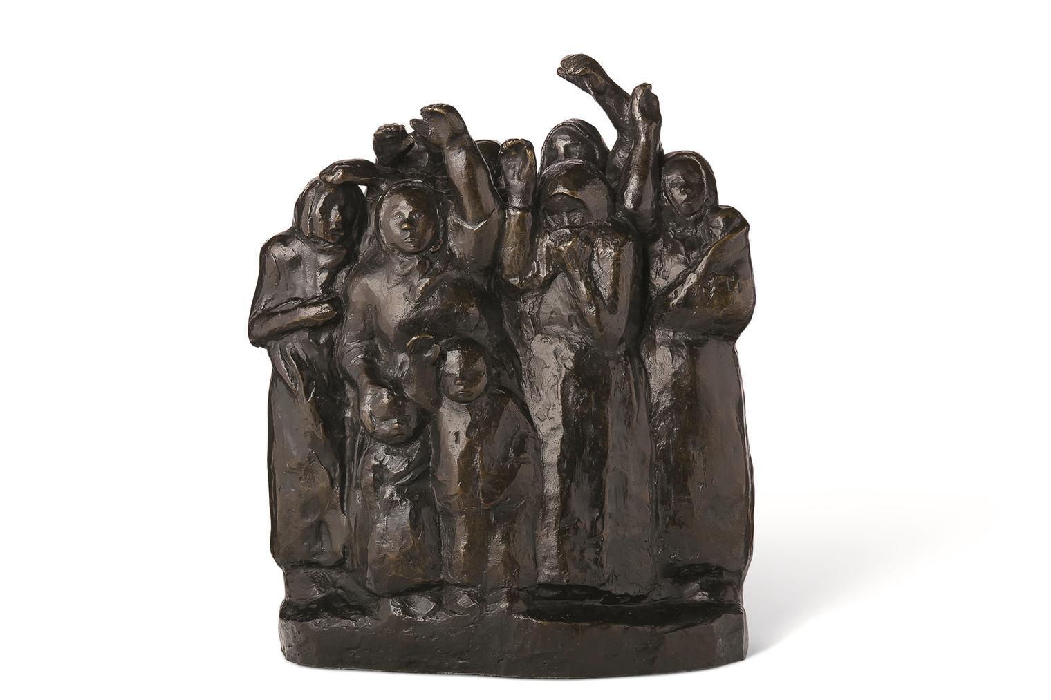 Kathe Kollwitz-Abschiedwinkende Soldatenfrauen II-1938